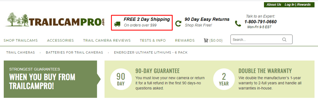 Trailcampro free shipping header