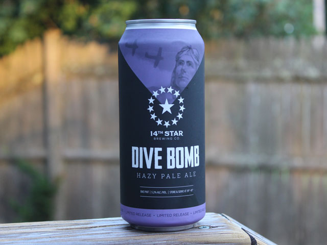 Dive Bomb, a Pale Ale brewed by 14th Star Brewing Company