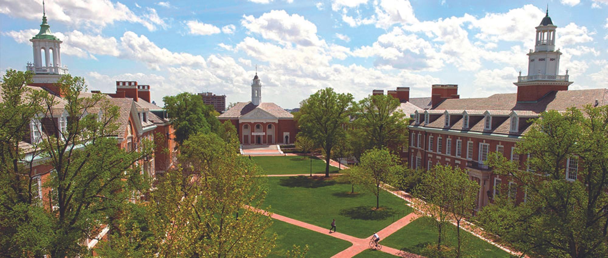 Campus shot of Johns Hopkins University