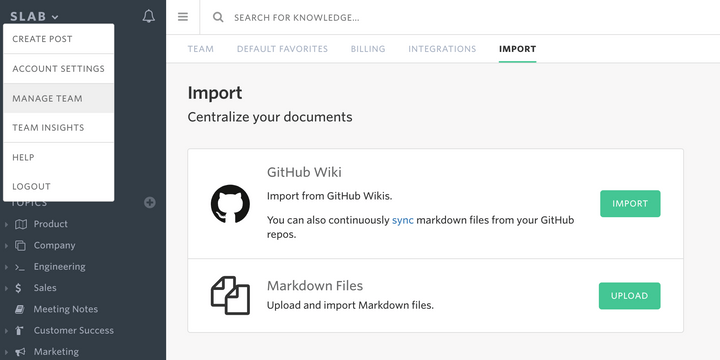 Import from GitHub Wiki