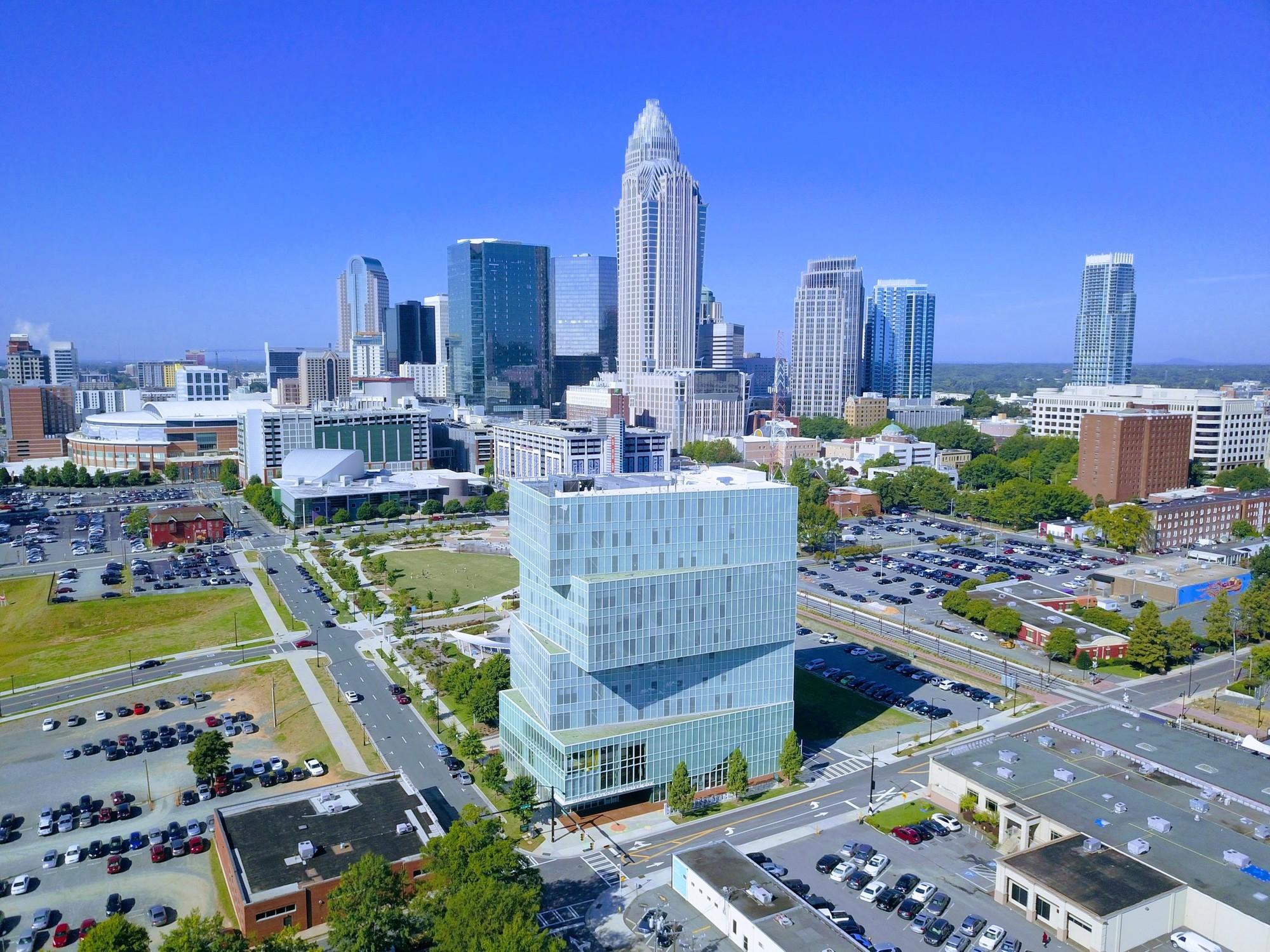 UNC Charlotte City Center Aerial View