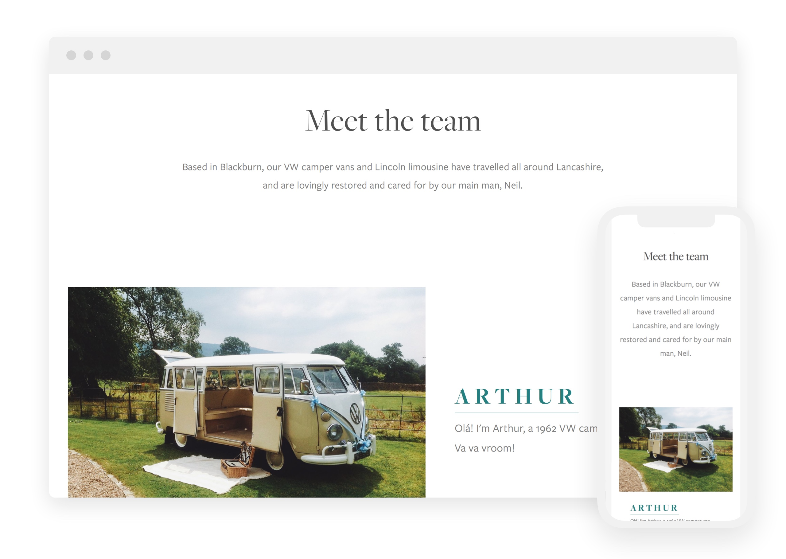 Responsive website design for Coach House Limousines