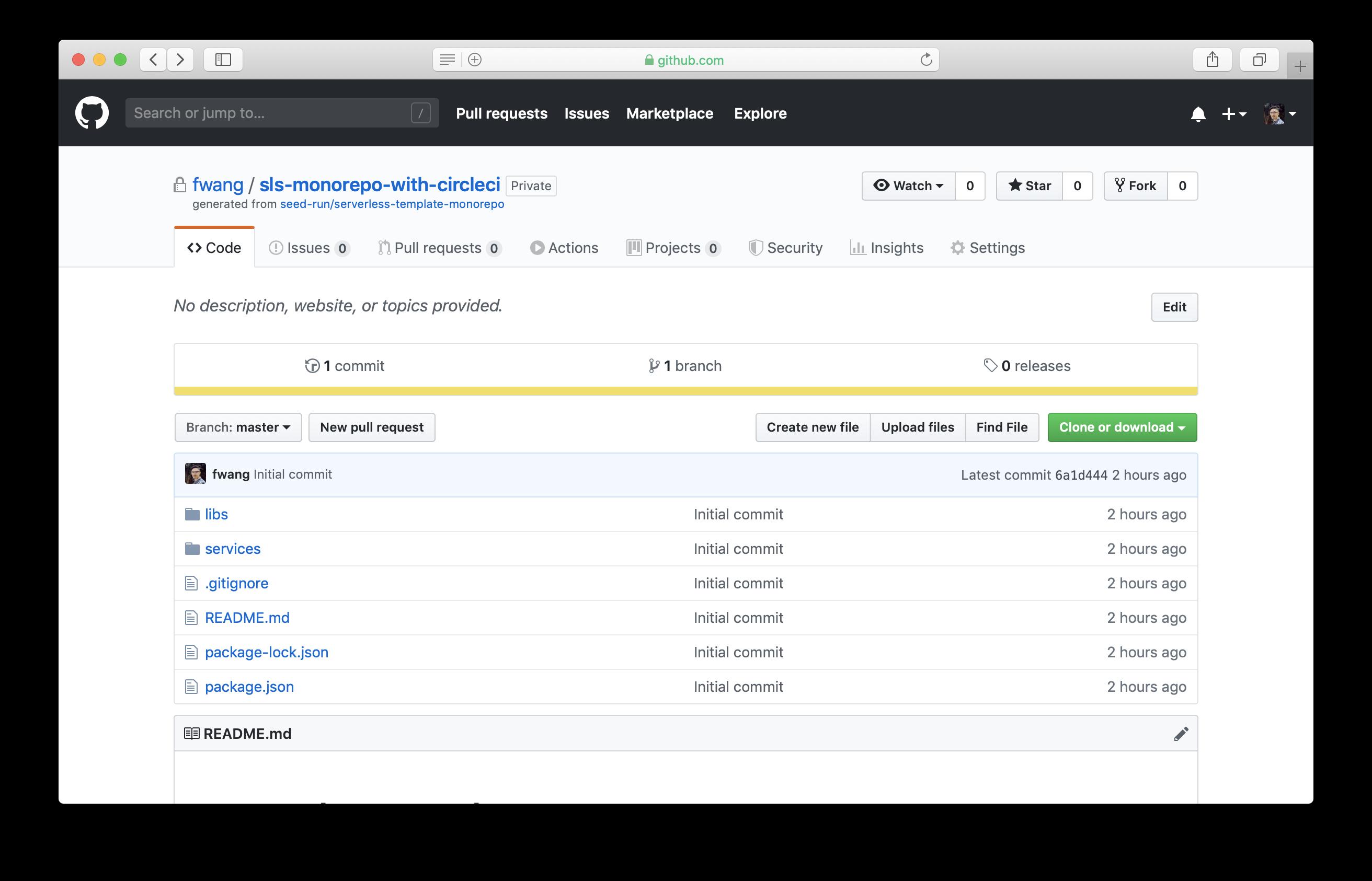 Create new file in cloned GitHub repo