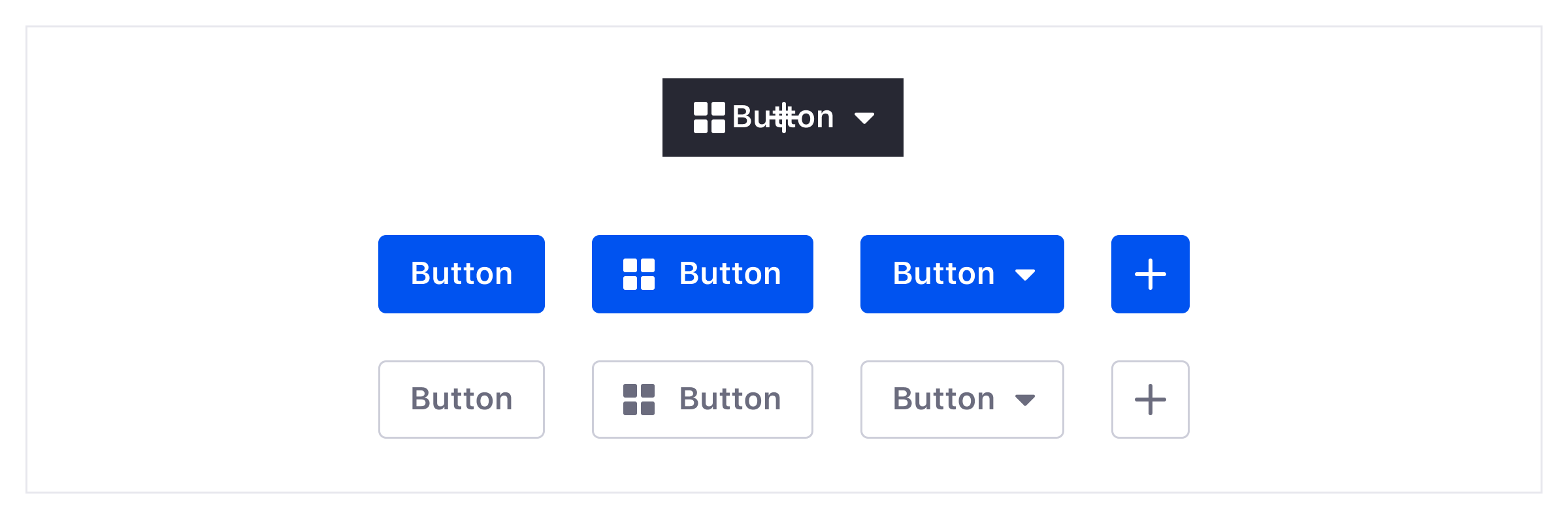 An example showing how 8 different buttons can be generated from 1 single component