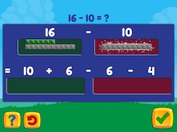Subtract within 20 (decomposing numbers leading to a ten) Math Game