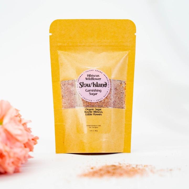 Slow Island   Hibiscus Wildflower Garnishing Sugar