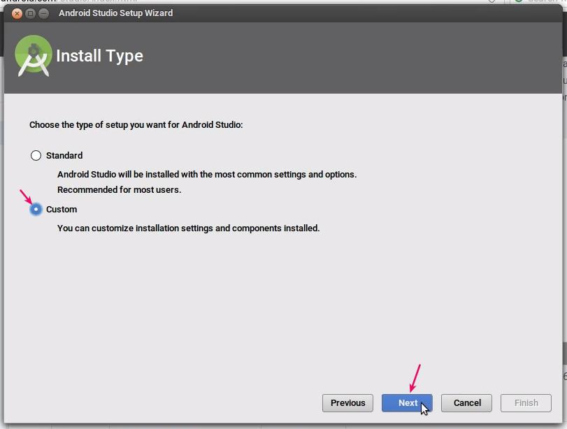 Jendela Install Type android studio