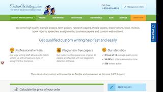 customwritings.com main page