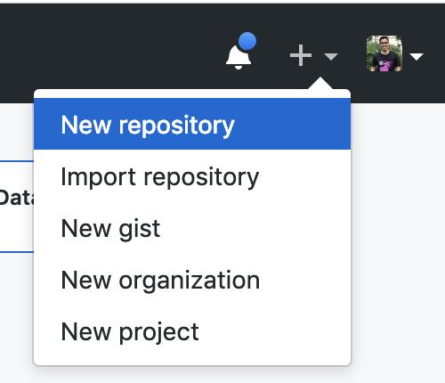 Criando um novo repositório no GitHub