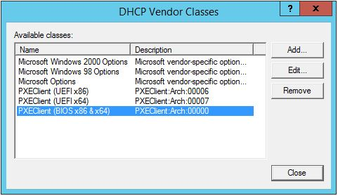 DHCP Classes