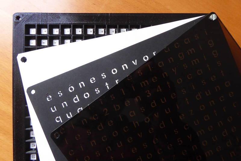 Wordclock With Green Matrix Effect - Tinkerman