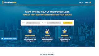 gradexy.com main page