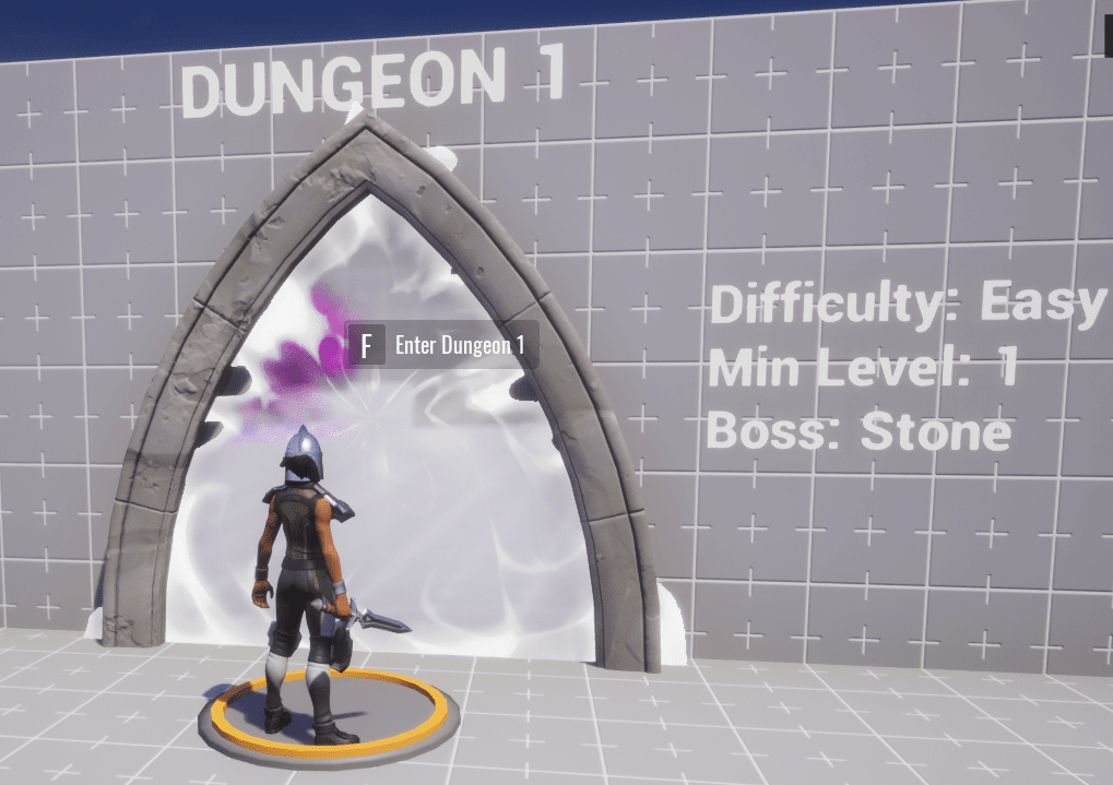 Standing on Dungeon 1 Teleporter