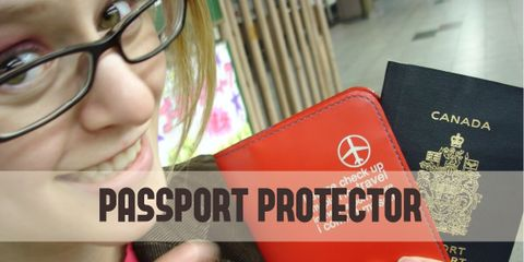 your passport, ID, and credit cards will be safe and well protected with this water and tear-resistant passport protector.