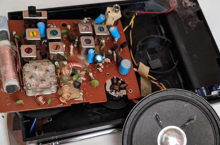 modified FM radio copper resonator coils