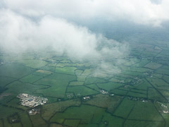 on final approach to Dublin Airport