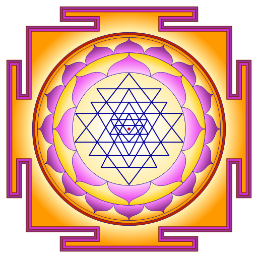 Sri Yantra by atarax42\. Creative Commons.