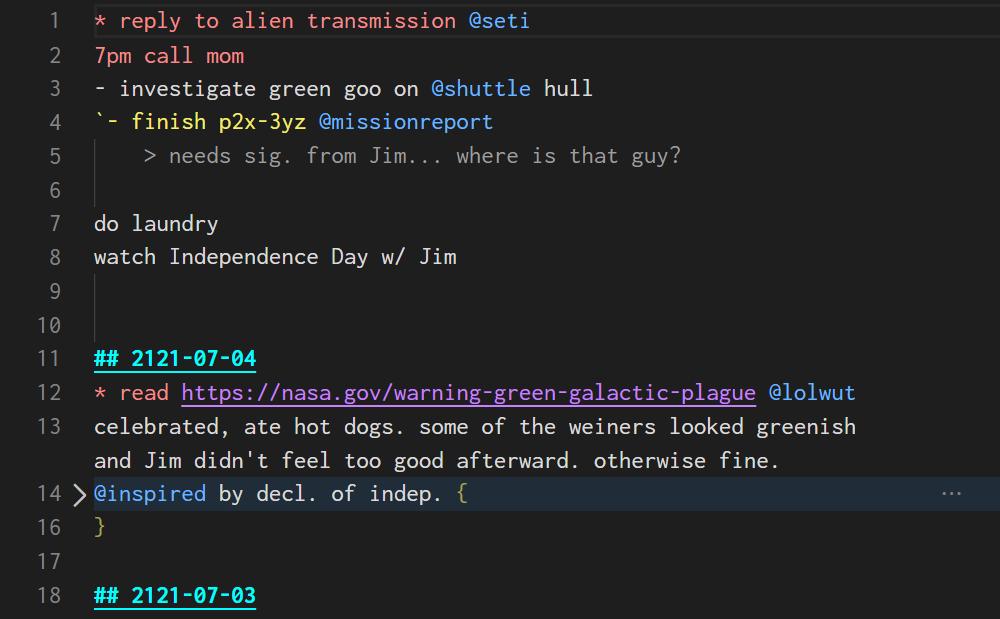 todo.txt vs code language syntax
