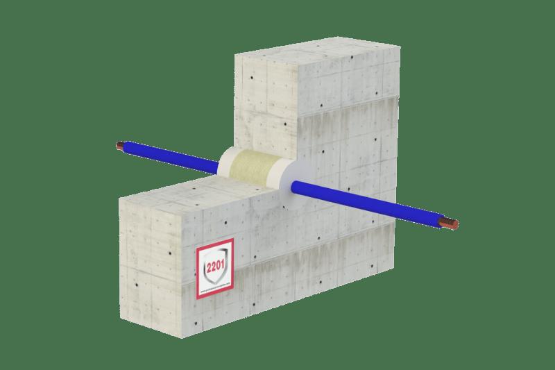 Protupožarno brtvljenje električnih kabela i negorivih cijevi sa i bez ne gorive izolacije - FS Acrylic