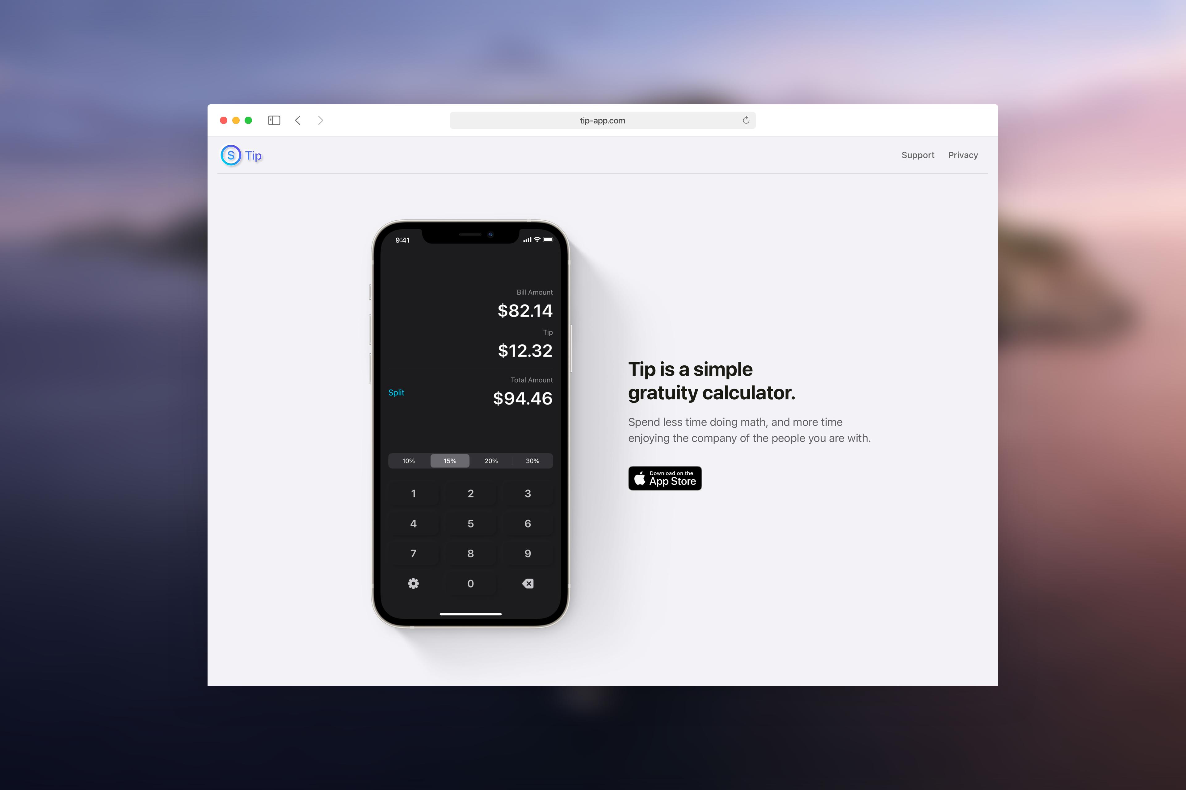Tip App - Marketing Website