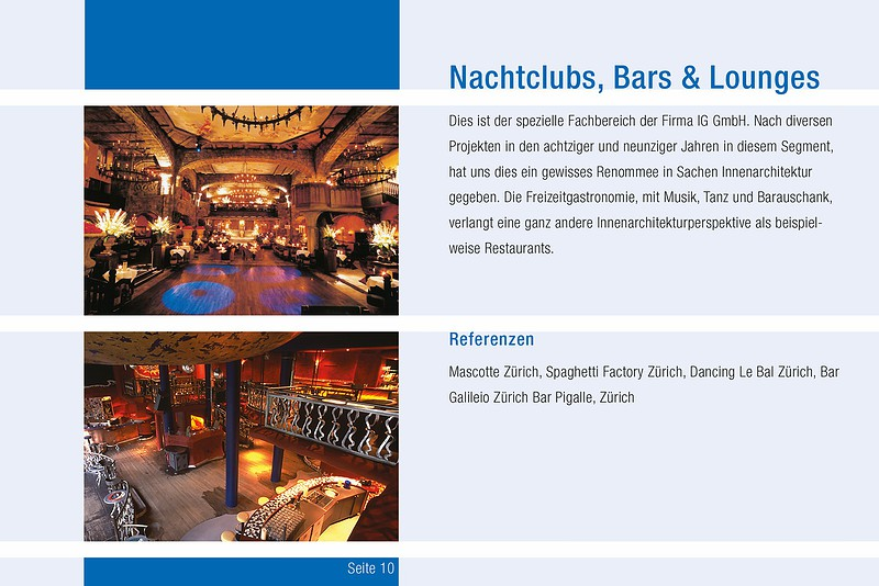 Business-Broschüre Nachtclubs