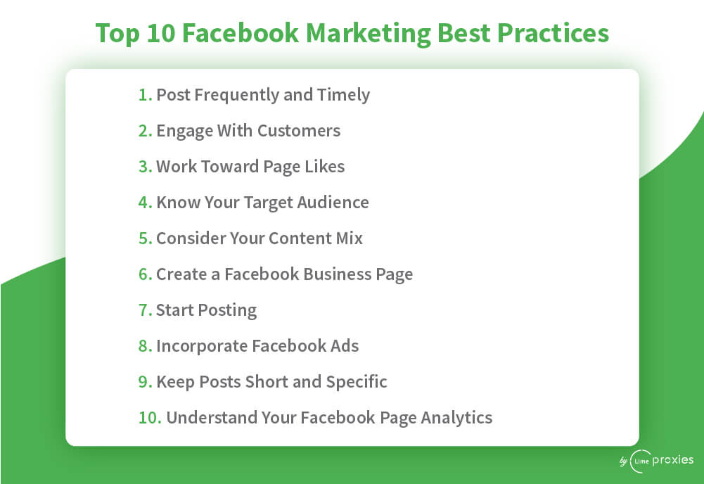 Facebook Marketing Best Practices