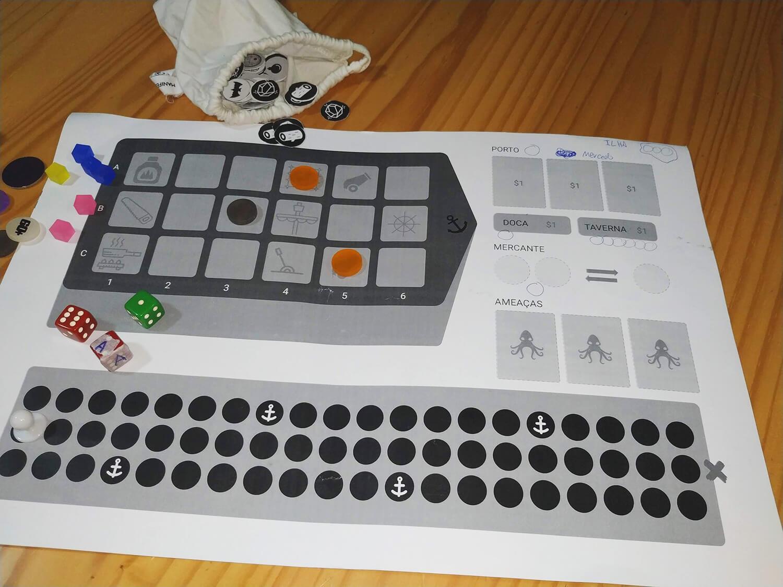Foto do protótipo do jogo Sailor Rush