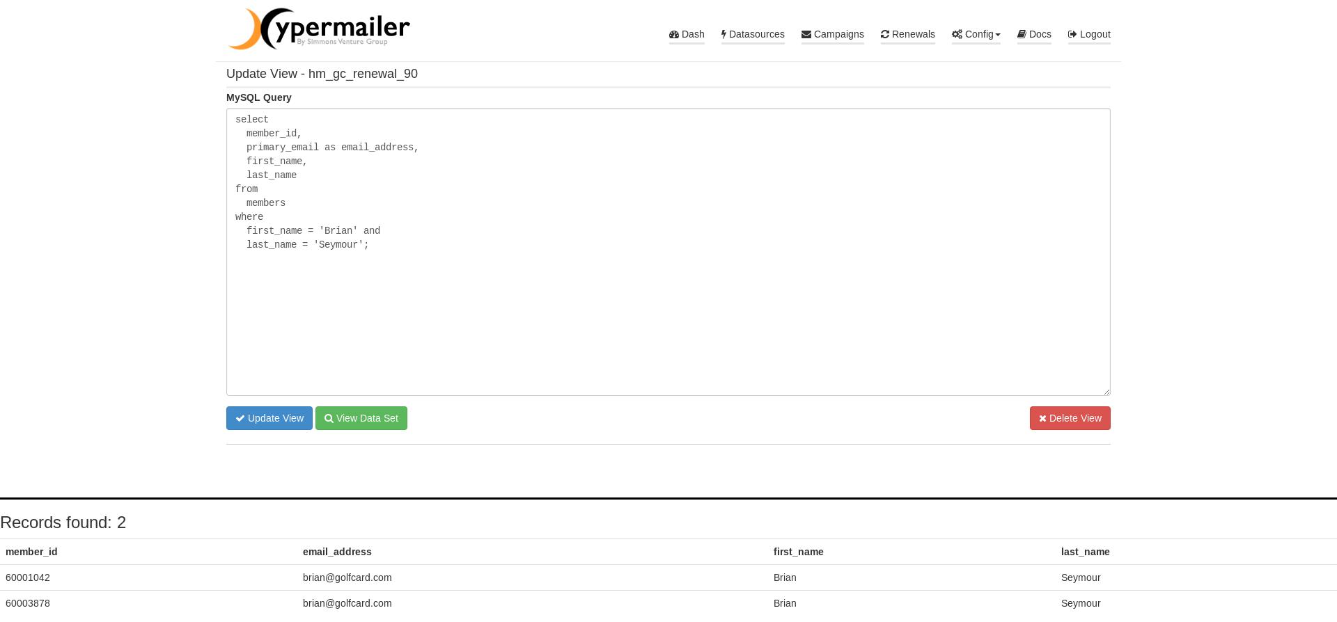Dataset/View Creator