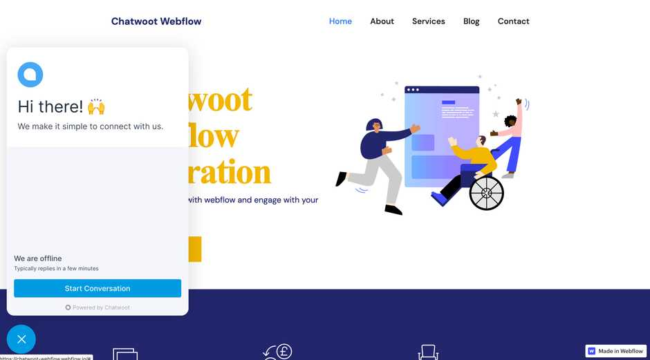 active-chatwoot-webflow-integration