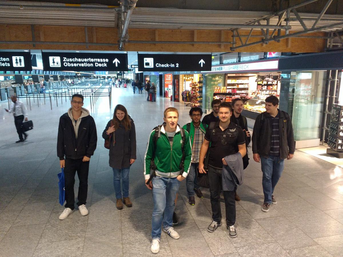 Departure in Zürich