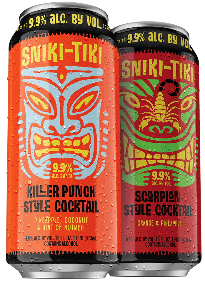 Killer Punch Style Cocktail and Scorpian Style cans