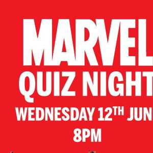 Little reminder about our quiz night tonight...Avengers assemble! £5pp includes free drink and quiz.  8pm KO.