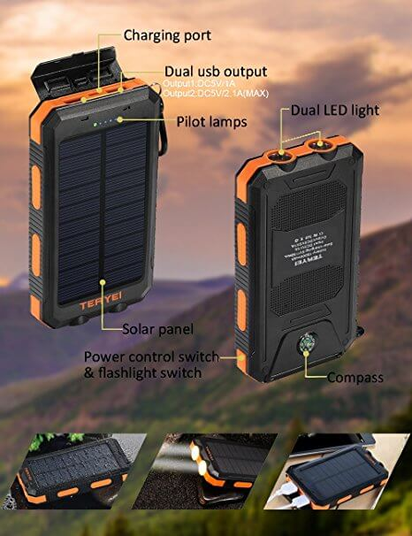 Portable Solar Charger from Teryei