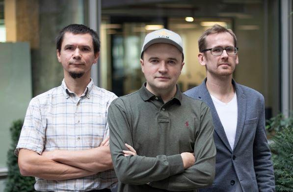 Vintom co-founders (left to right) Grzegorz Kalisz CTO, Szymon Pawlica CEO, Tomasz Brożyna COO