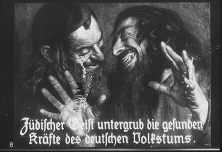 "Fascist media portrayal of Jews 1938 - ""The Jewish spirit undermines the healthy powers of the German people."
