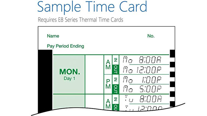 Lathem 800P time card