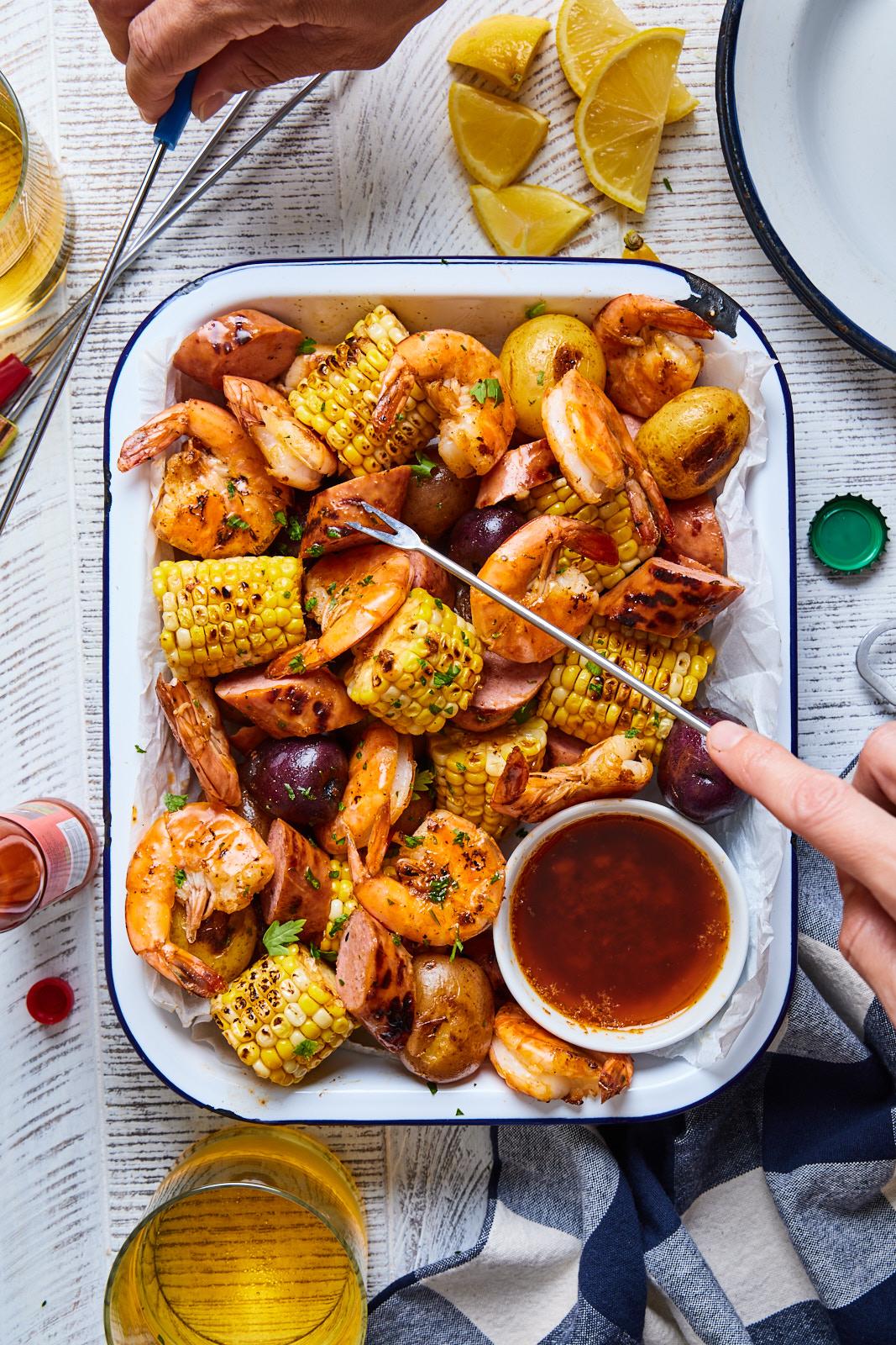 Cajun Grilled Shrimp Boil