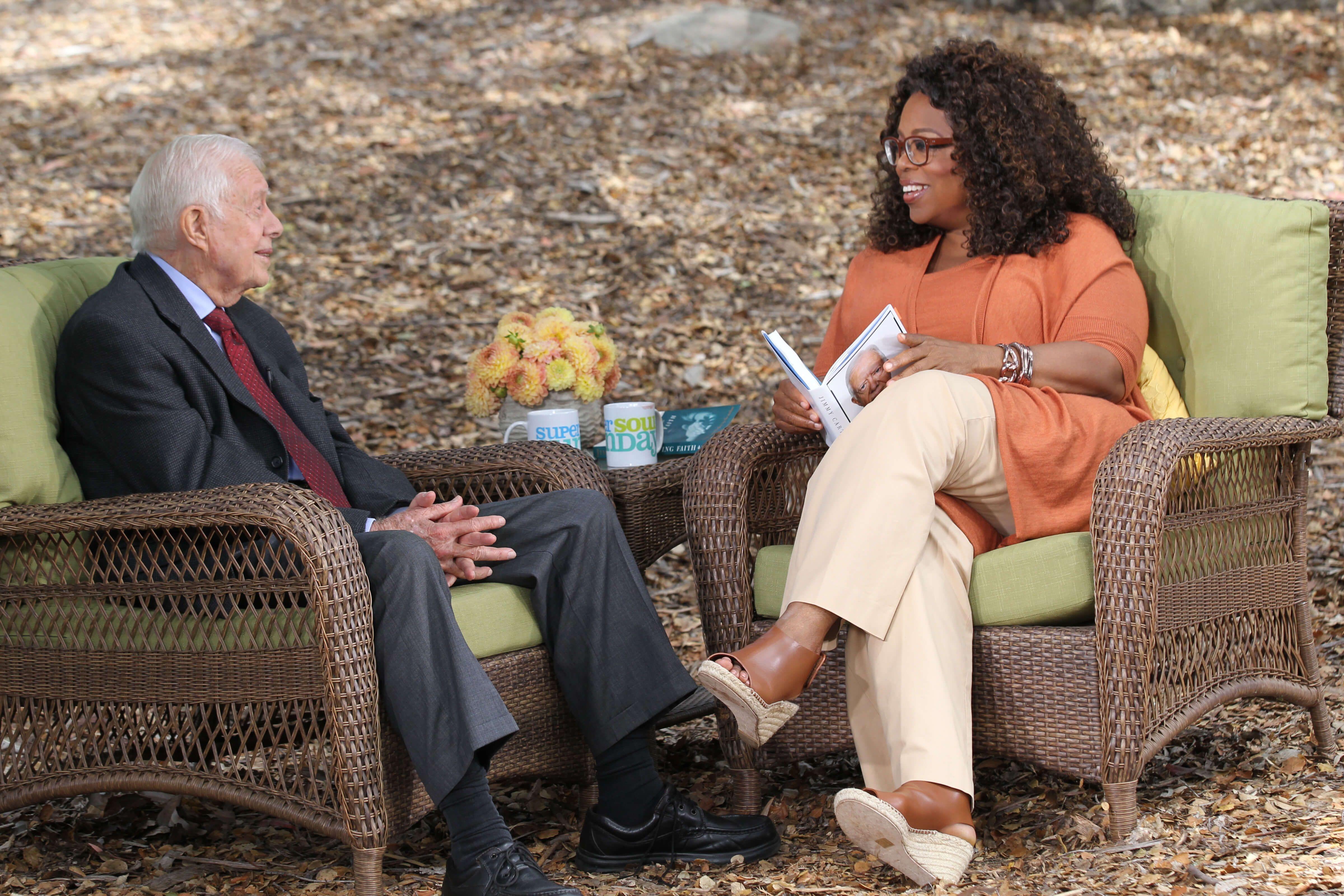 Опра Уинфри с бывшим президентом США Джимми Картером / supersoul.tv
