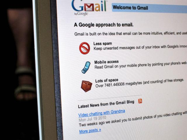 screenshot of Gmail login page
