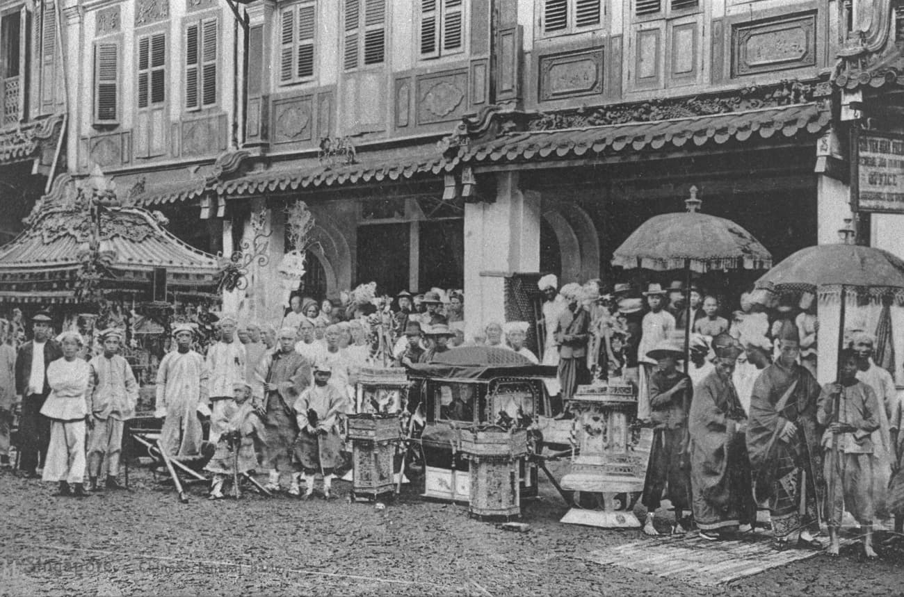 Chinese funeral, 1900s