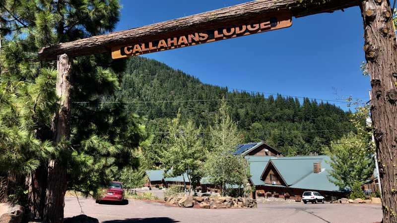 Entrance to Callahan's Mountain Lodge