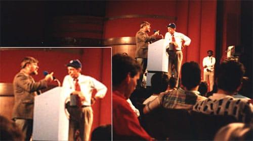 Laird Wilcox with Morton Downey Jr