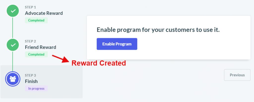 Friend reward created