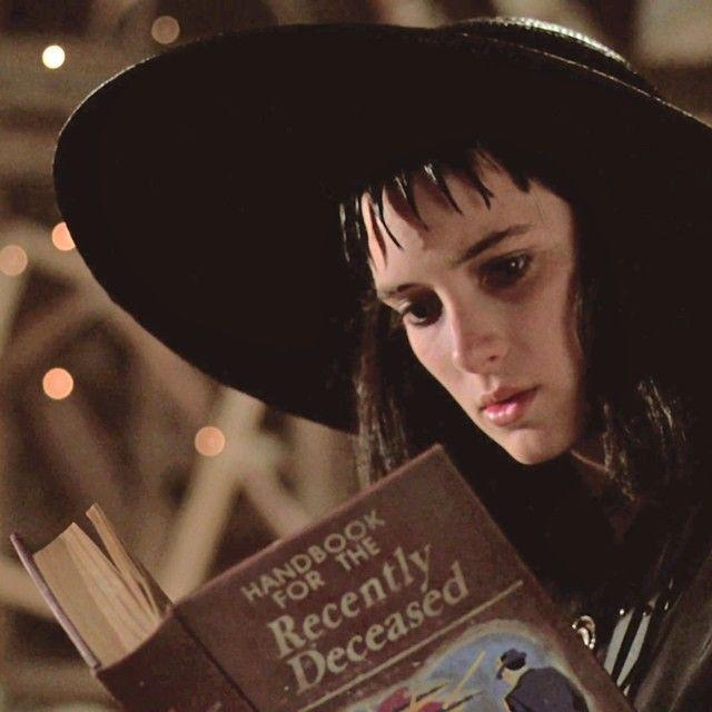 Still from the movie Beetlejuice with the manual