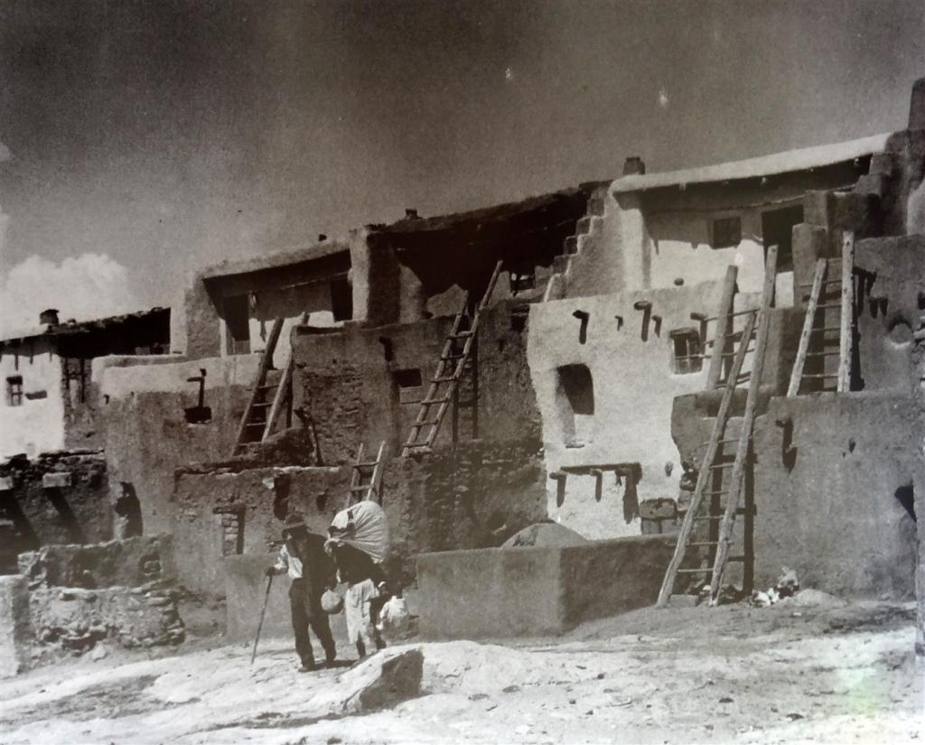 Acoma buildings from the Acoma Archives at Center for Southwest Research, UNM