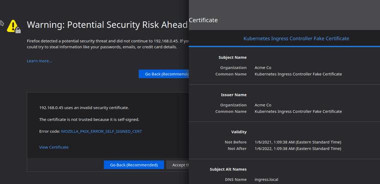 Security Risk error