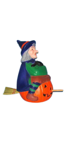 Witch With Broom photo