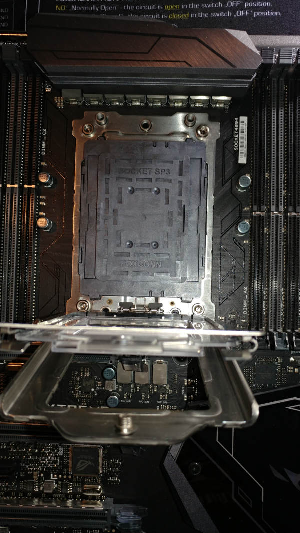CPU Carrier Frame Removed