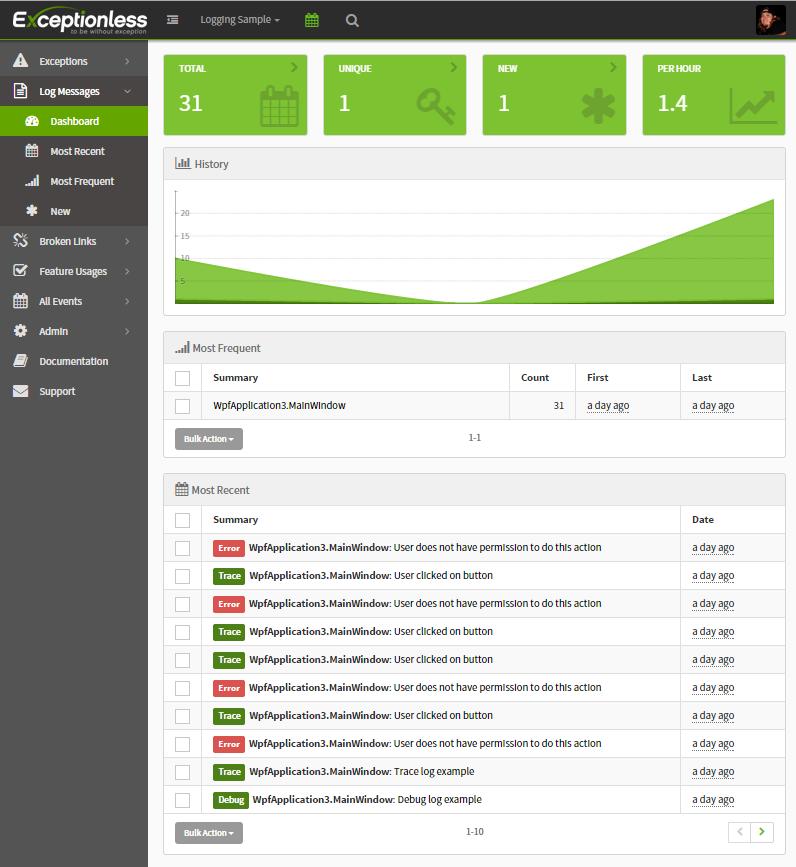 log-messages-dashboard