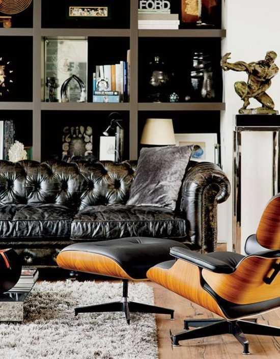 The Original Chesterfield Brighton 2 En 3zitsbank Zetel Salon Zwart 9200000035634009_2 50 cm